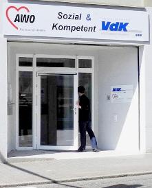 Eingangstür zum AWO Betreuungsverein Südwestpfalz e.V.